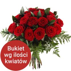 Bukiet 95 róż